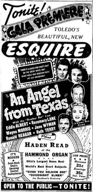 Esquire grand opening ad from January 30th, 1941