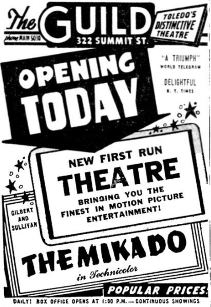 opening as Guild November 2nd, 1949