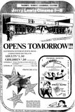 July 29th, 1971 grand opening ad as Jerry Lewis