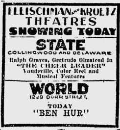 First ad for the State December 1st, 1927