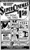 Super Cinemas opening ad for June 30th, 1990