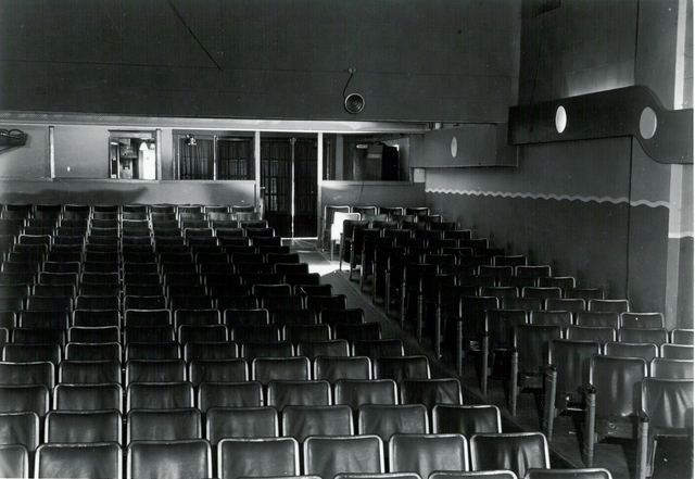 Uptown Inside looking from front to back 1954