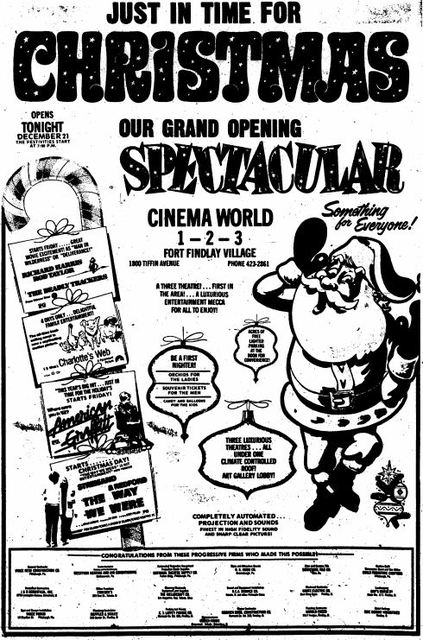 Grand opening ad as Cinema World from December 21st, 1973