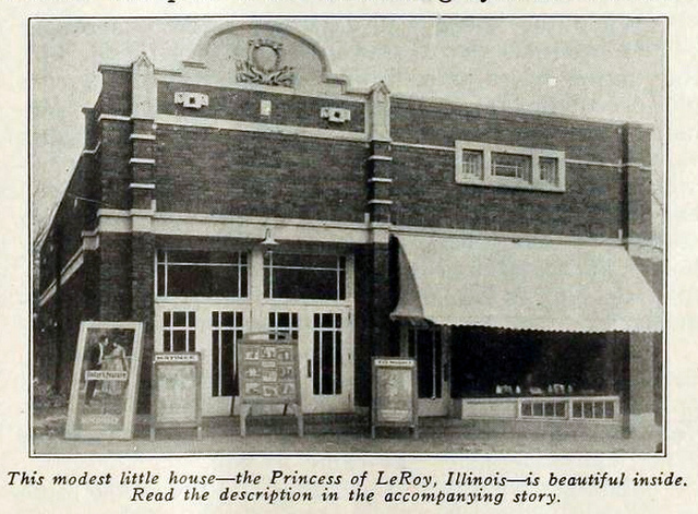 Princess Theatre, LeRoy, IL 1917