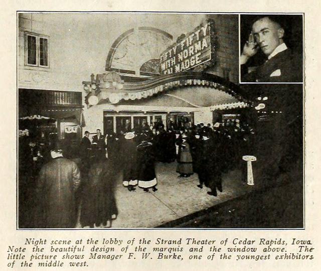 Strand Theatre, Cedar Rapids, Iowa 1916