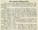 Apollo Theatre, Kansas City 1917 - Clipping part 1