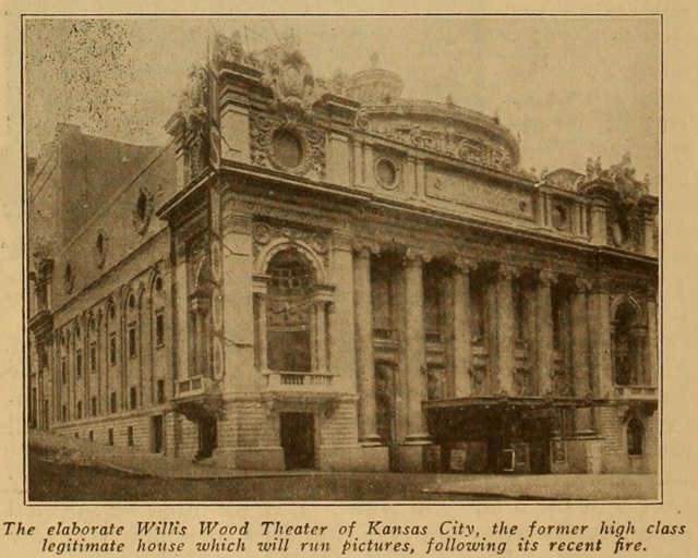 Willis Wood Theatre, Kansas City in 1917