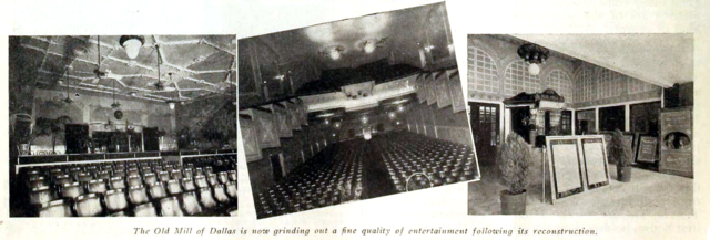 Old Mill Theatre, Dallas TX in 1917 - Interior