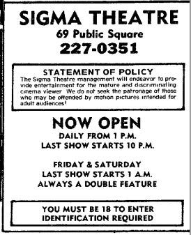 Sigma adult cinema from August 9th, 1977
