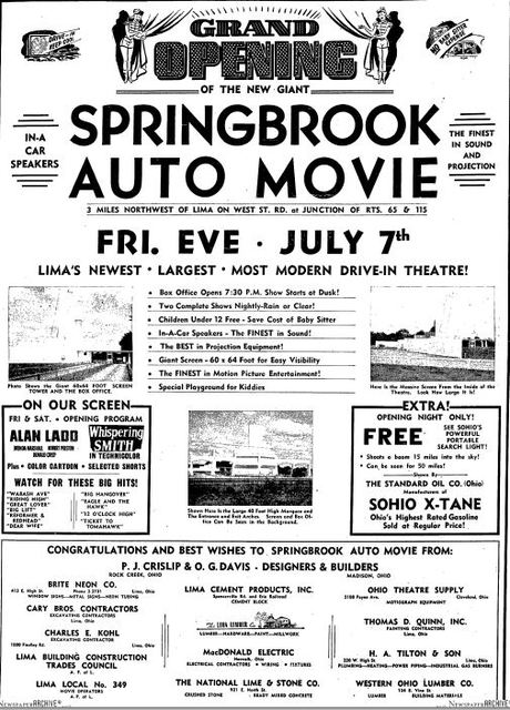 July 6th, 1950 grand opening ad