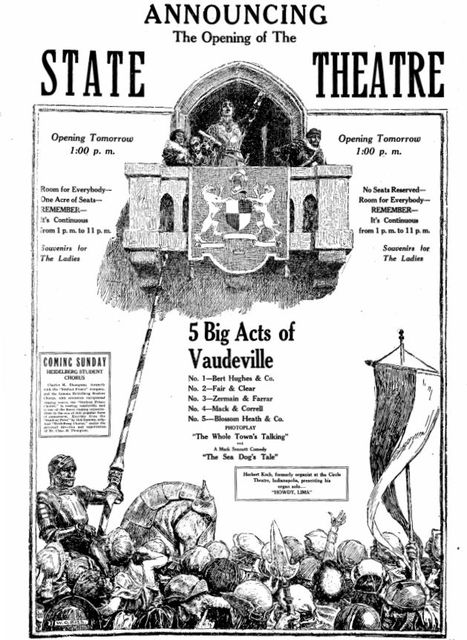 February 16th, 1927 grand opening ad