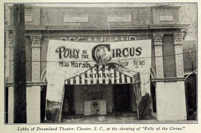 Dreamland Theatre, Chester SC in 1917