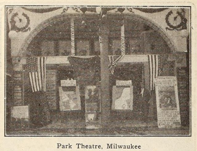 Park Theatre, Milwaukee, Wisconsin in 1911