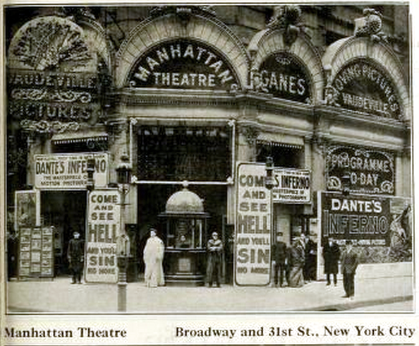 Ganes Manhattan Theatre, New York in 1912