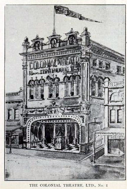 Colonial Theatre No 1, Sydney, Australia in 1911