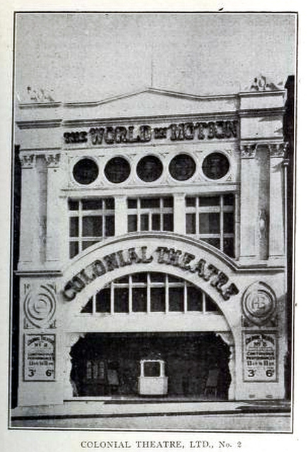 Colonial Theatre No 2, Sydney, Australia in 1911
