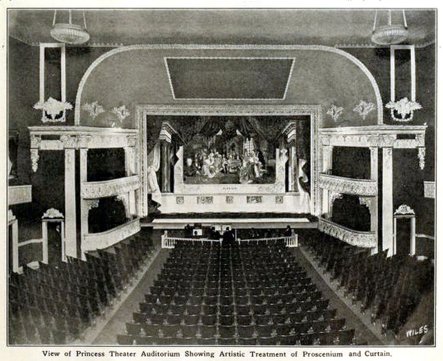 Princess Theatre, Nashville, Tenn in 1912 - Proscenium and Curtains