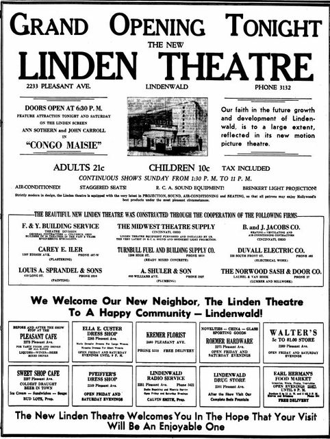 July 19th, 1940 grand opening ad