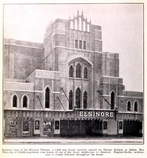 Elsinore Theatre, Salem, Oregon in 1926