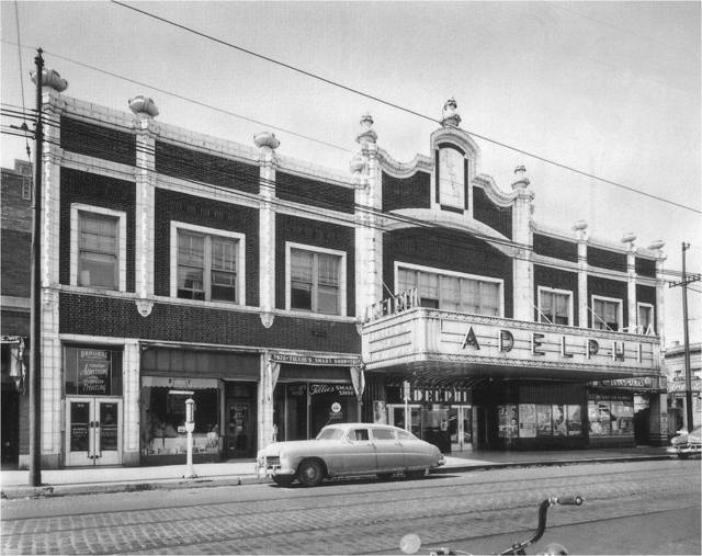 Adelphi Theater in the early `50's, photo source unknown.