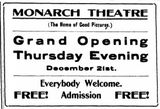 December 21st, 1911 grand opening ad