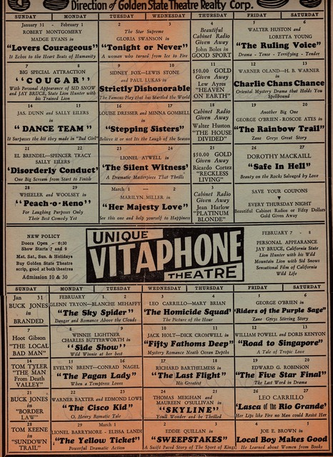 Unique Schedule 1932