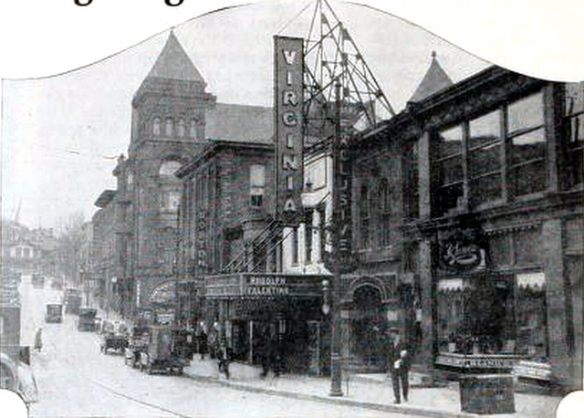 Virginia Theatre, Fairmont, West Virginia in 1927