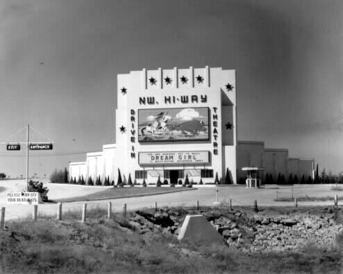Northwest Hi-Way Drive-In, Oklahoma City, 1948
