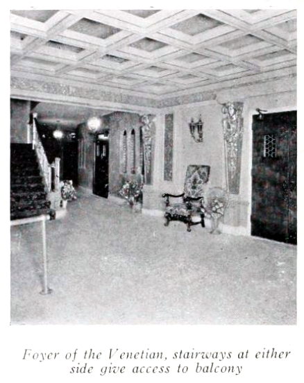 Venetian Theatre, Milwaukee, WI in 1927 - Inner foyer