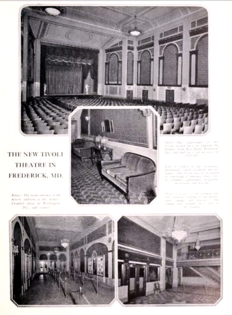 Tivoli Theatre, Frederick, Maryland in 1926