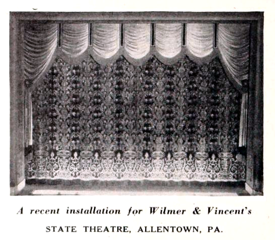 State Theatre, Allentown PA in 1927 - Stage Curtains