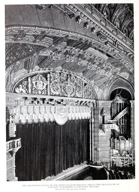 Roxy Theatre, New York in 1927 - Proscenium