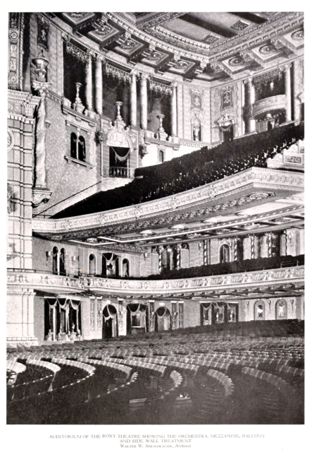 Roxy Theatre, New York in 1927 - Auditorium