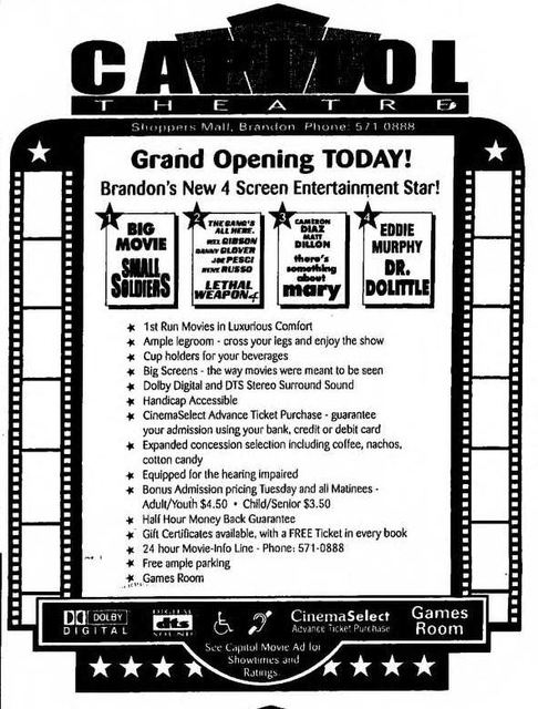 July 17th, 1998 grand opening ad
