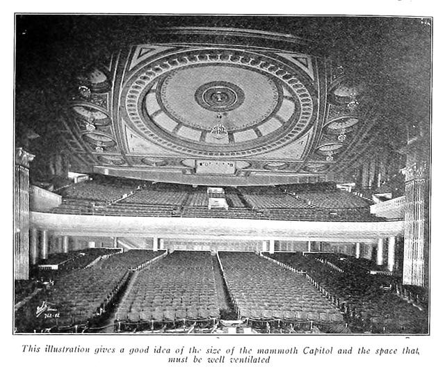 Capitol Theatre, New York in 1920 - Auditorium