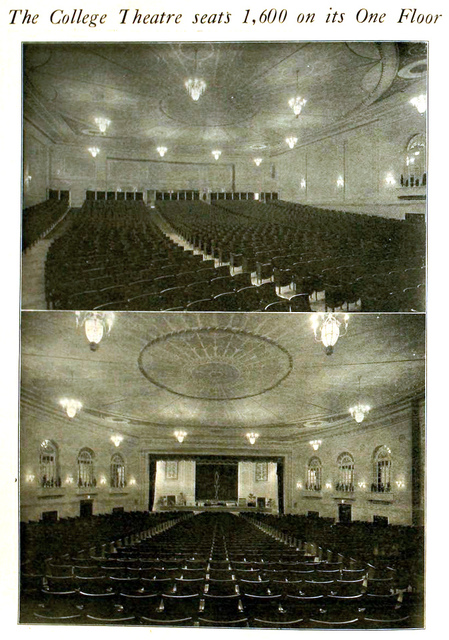 College Theatre, Toronto, Canada in 1920 - Auditorium