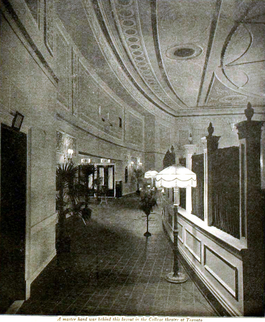 College Theatre, Toronto, Canada in 1920