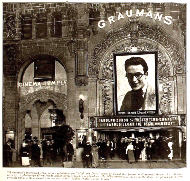 Graumans Theatre, Los Angeles in 1920