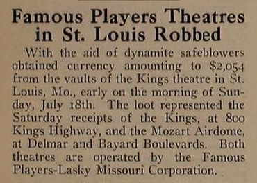 Kings Theatre, St. Louis MO in 1920