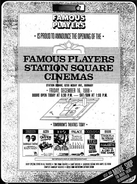 December 16th, 1988 grand opening ad
