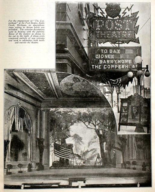 Post Theatre, Battle Creek, Michigan in 1920