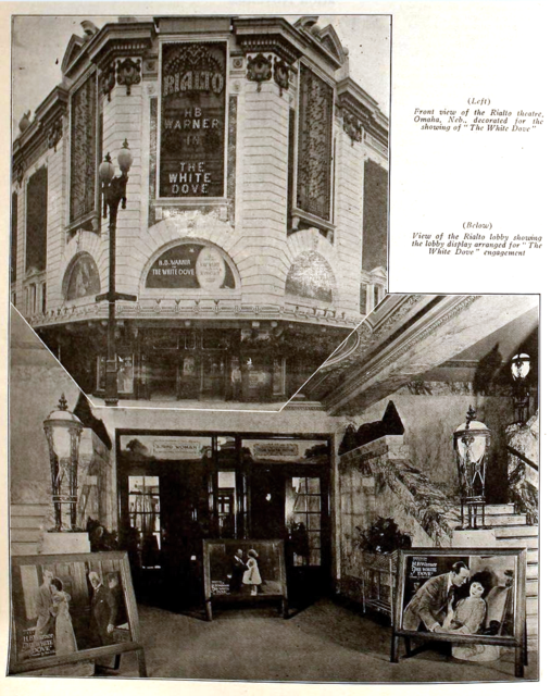 Rialto Theatre, Omaha, Nebraska in 1920