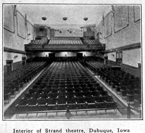 Strand Theatre, Dubuque, Iowa in 1920 - Interior