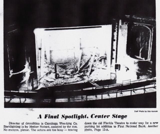 Demolition of Florida Theatre, St. Petersburg, FL