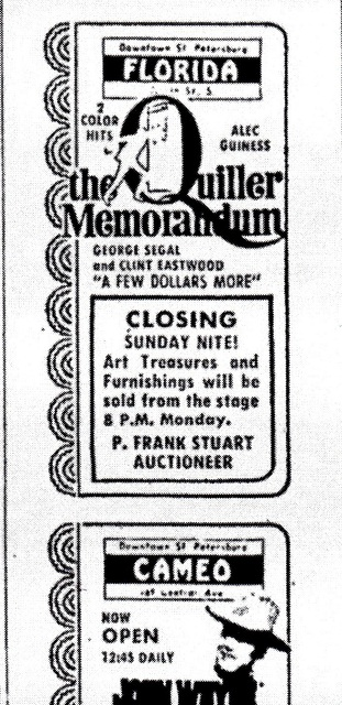 Final Program, Florida Theatre, St. Petersburg, FL