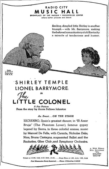 Opening of The Little Colonel