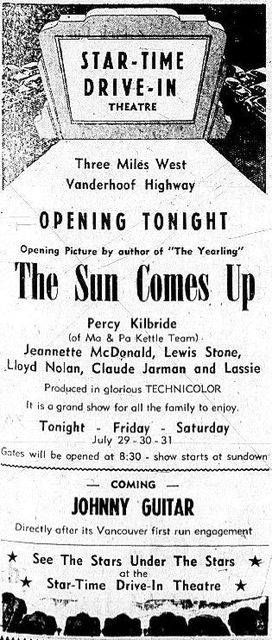 July 29th, 1954 grand opening ad