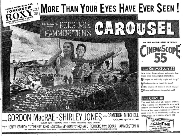 Carousel premiere 2/16/1956