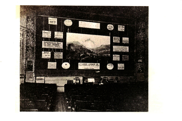 An early shot of the Majestic's interior, stage and orchestra pit.