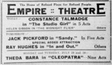 Empire Theater Ad July 23, 1918